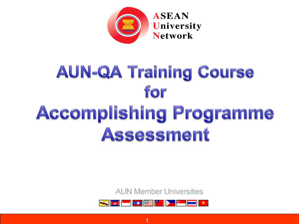 12 Evolution of AUN-QA 1995 - Establishment of ASEAN University Network (AUN) 1998 – Establishment of AUN-QA Network 1999 – Establishment of AUN-QA Network Task Force 2000 – Establishment of the AUN-QA Centre for Chief Quality Officers (CQOs) 2001 – AUN-QA Common Policies, Criteria and Strategic Plan 2004 – Endorsement of AUN-QA Guidelines 2006 – Endorsement of the Manual for the Implementation of the Guidelines 2007 – Actual quality assessment at programme level 2008 -Training of new AUN-QA assessors 2011 -Guide to AUN Actual Quality Assessment at Programme Level Guidelines for AUN Quality Assessment & Assessors 2011 -DIES Training Course - ASEAN-QA Evolution of AUN-QA M3-5