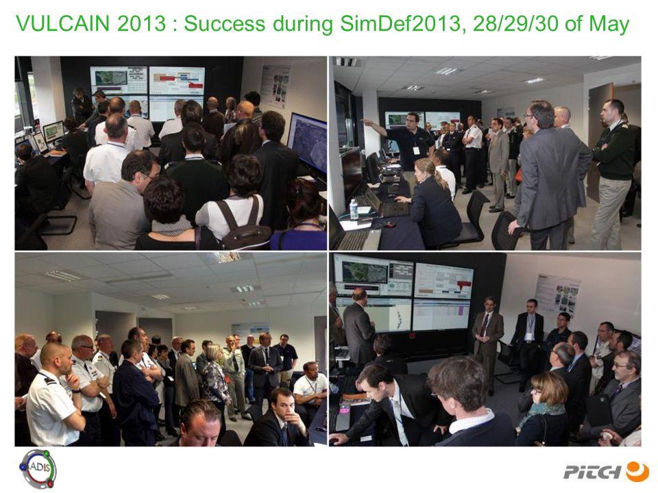 VULCAIN 2013 : Success during SimDef2013, 28/29/30 of May