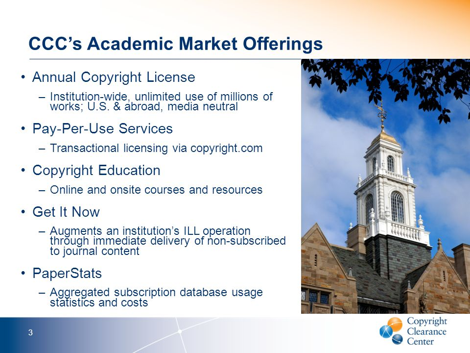 Academia and Copyright in the Courts 4 VS.