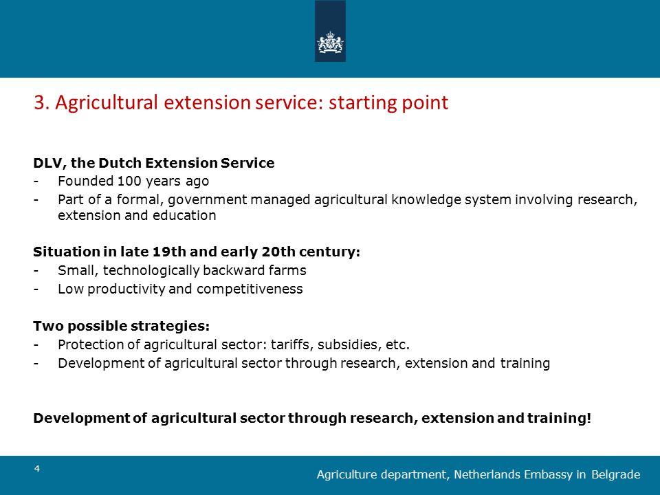 5 Agriculture department, Netherlands Embassy in Belgrade 3.