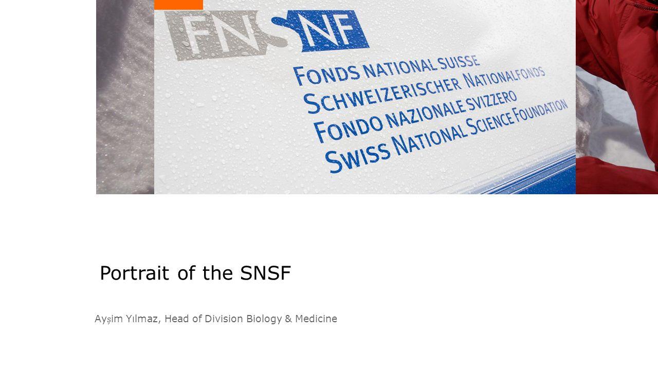 Portrait of the SNSF Ayim Yılmaz, Head of Division Biology & Medicine