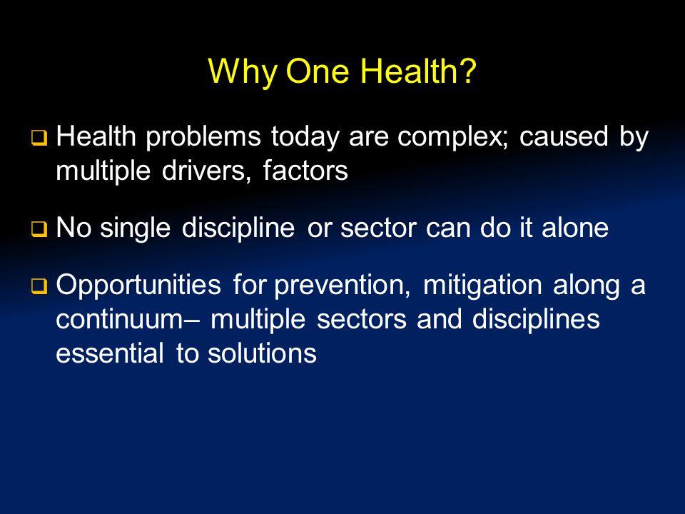 Why One Health.
