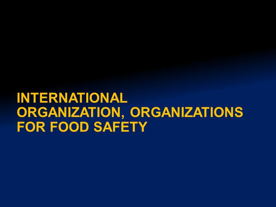 INTERNATIONAL ORGANIZATION, ORGANIZATIONS FOR FOOD SAFETY