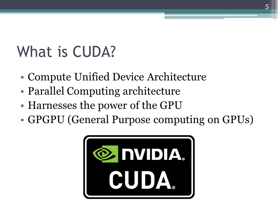 What is CUDA.
