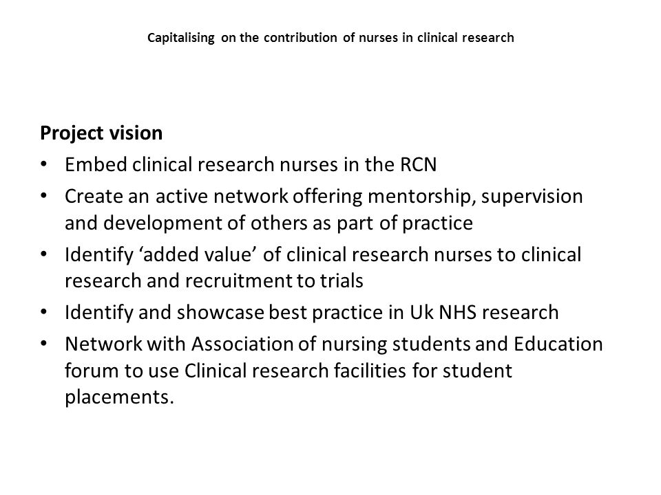 The role of the research nurse.