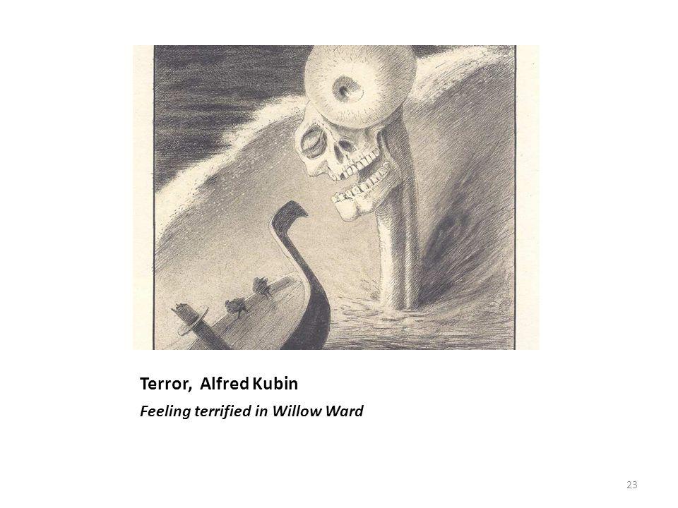 Terror, Alfred Kubin Feeling terrified in Willow Ward 23
