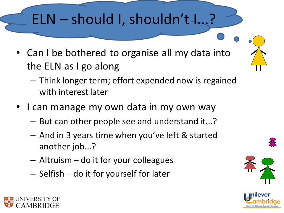 ELN – should I, shouldn't I....