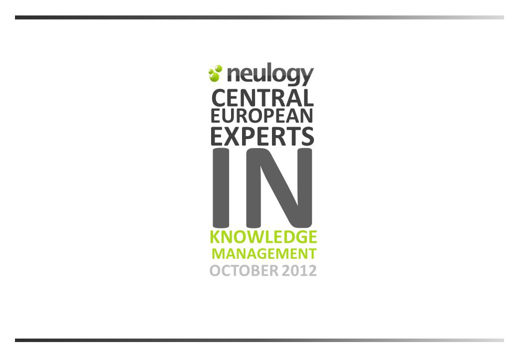 CENTRAL OCTOBER 2012 EXPERTS MANAGEMENT KNOWLEDGE EUROPEAN IN