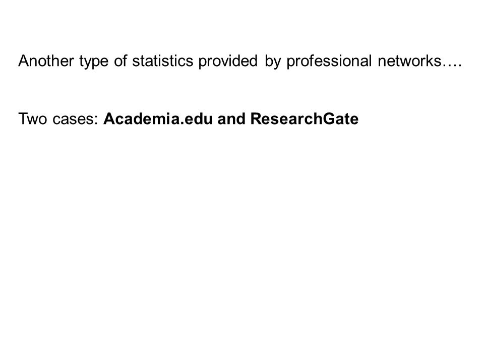 Another type of statistics provided by professional networks….