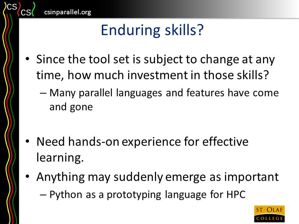 csinparallel.org Enduring skills.