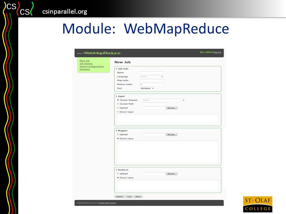 csinparallel.org Module: WebMapReduce