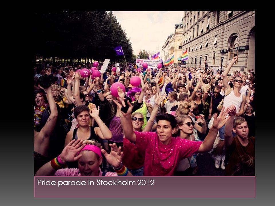 Pride parade in Stockholm 2012
