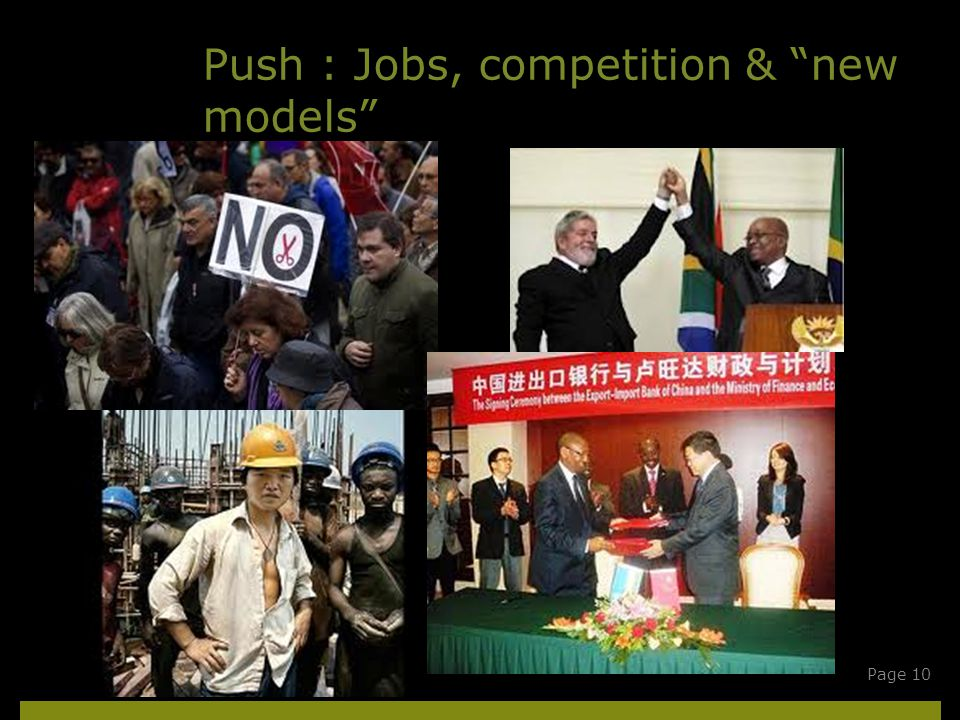 Push : Jobs, competition & new models ECDPMPage 10