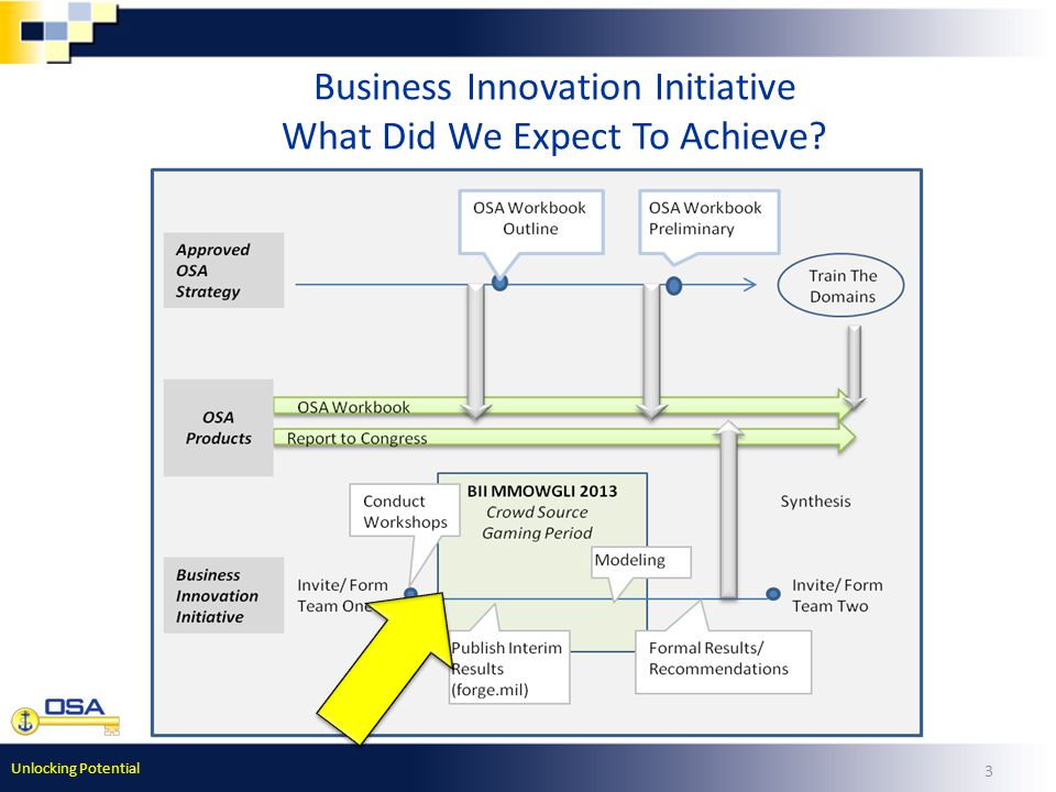 Unlocking Potential 3 Business Innovation Initiative What Did We Expect To Achieve