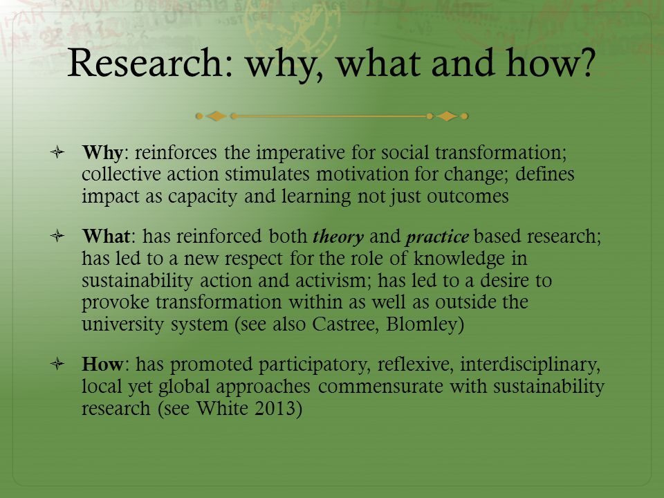 Research: why, what and how.