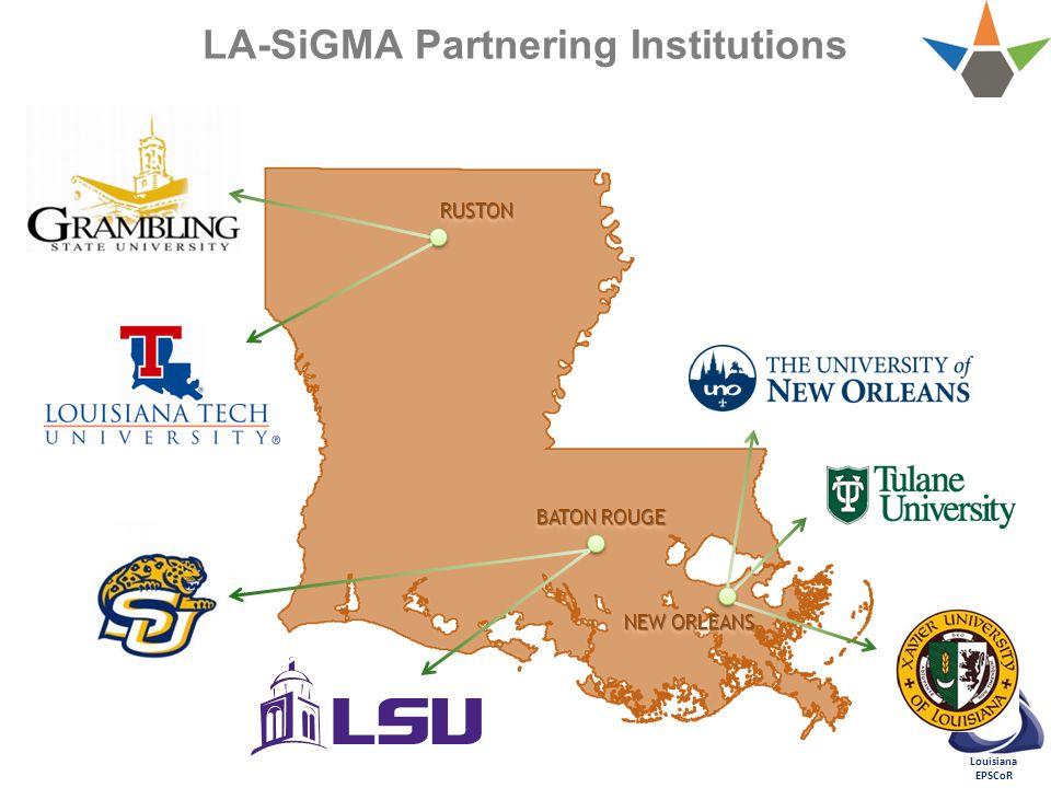 Louisiana EPSCoR LA-SiGMA Partnering Institutions RUSTONRUSTON BATON ROUGE NEW ORLEANS