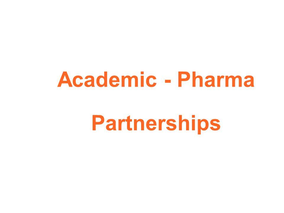 Academic - Pharma Partnerships