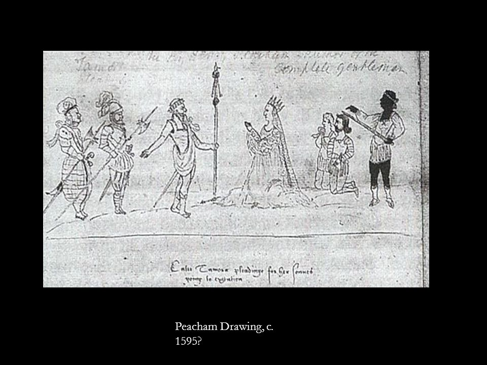 Peacham Drawing, c. 1595?