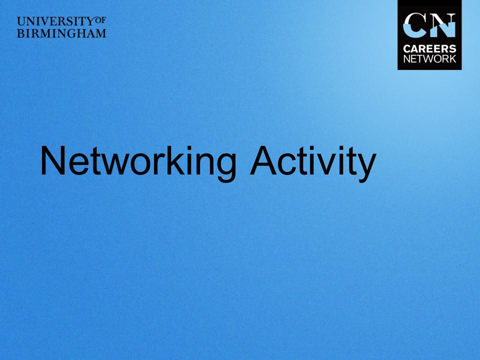 Networking Activity