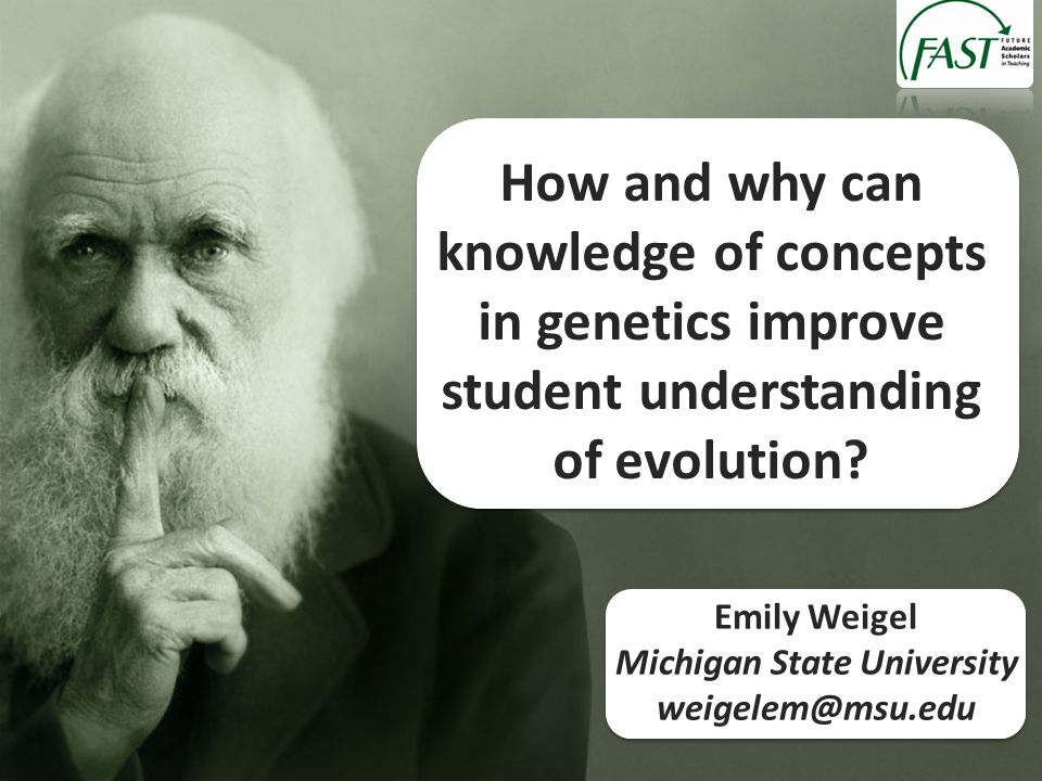 How and why can knowledge of concepts in genetics improve student understanding of evolution.