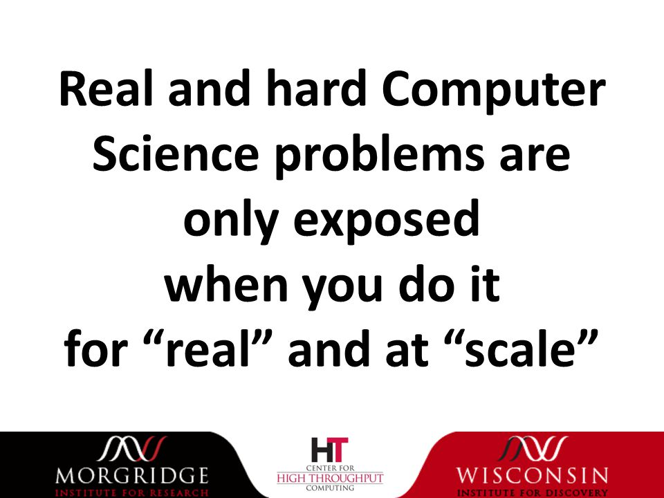 Real and hard Computer Science problems are only exposed when you do it for real and at scale