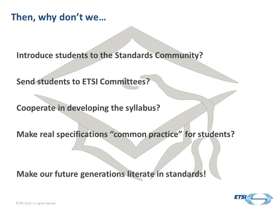 Then, why don't we… Introduce students to the Standards Community.