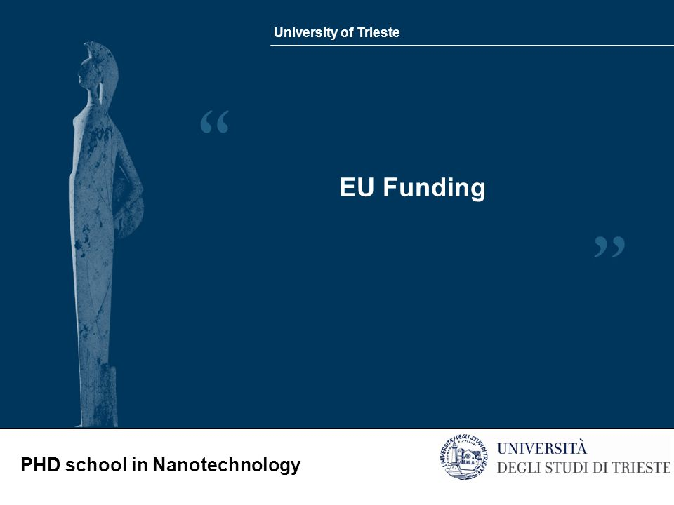 University of Trieste PHD school in Nanotechnology EU Funding