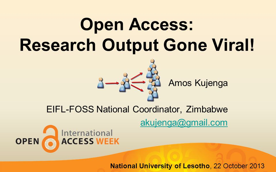  Definition of Open Access  Open Access Routes  Benefits of Open Access  Open Access Concerns  Open Access and Social Media 2 Outline of Presentation