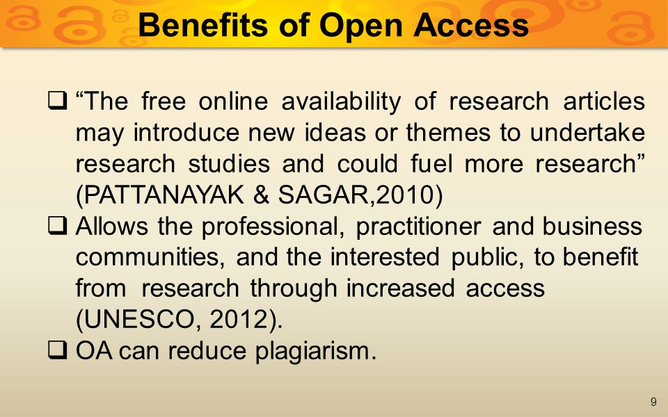 The Directory of Open Access Journals (DOAJ)  Aims to increase the visibility and ease of use of OA scientific and scholarly journals, thereby promoting their increased usage and impact.