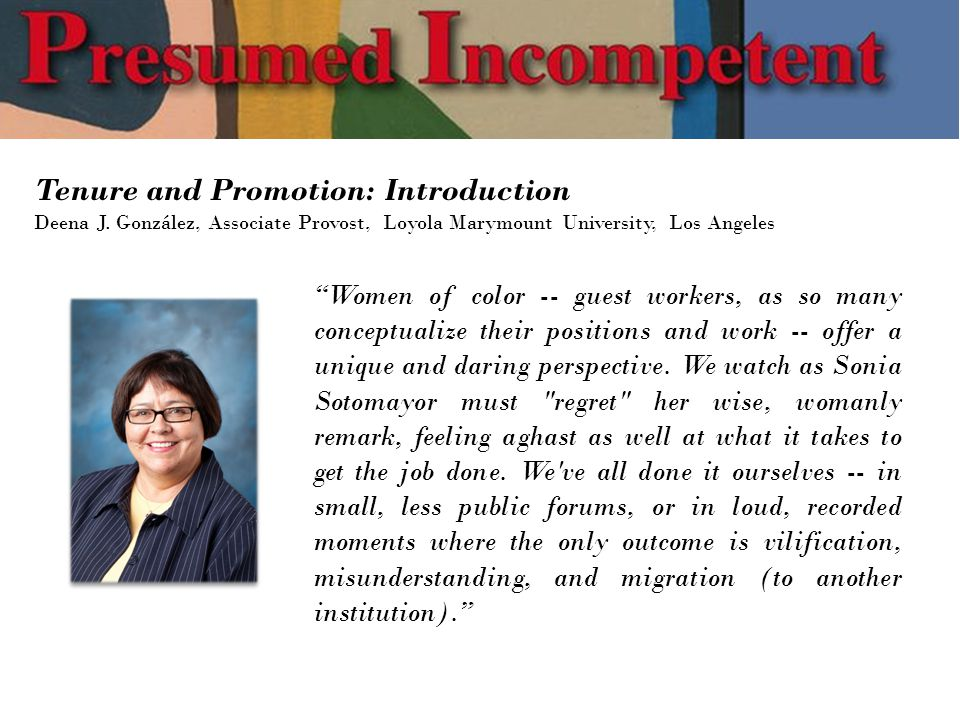 Tenure and Promotion: Introduction Deena J.