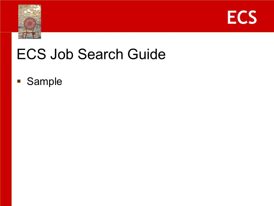 ECS ECS Job Search Guide  Sample