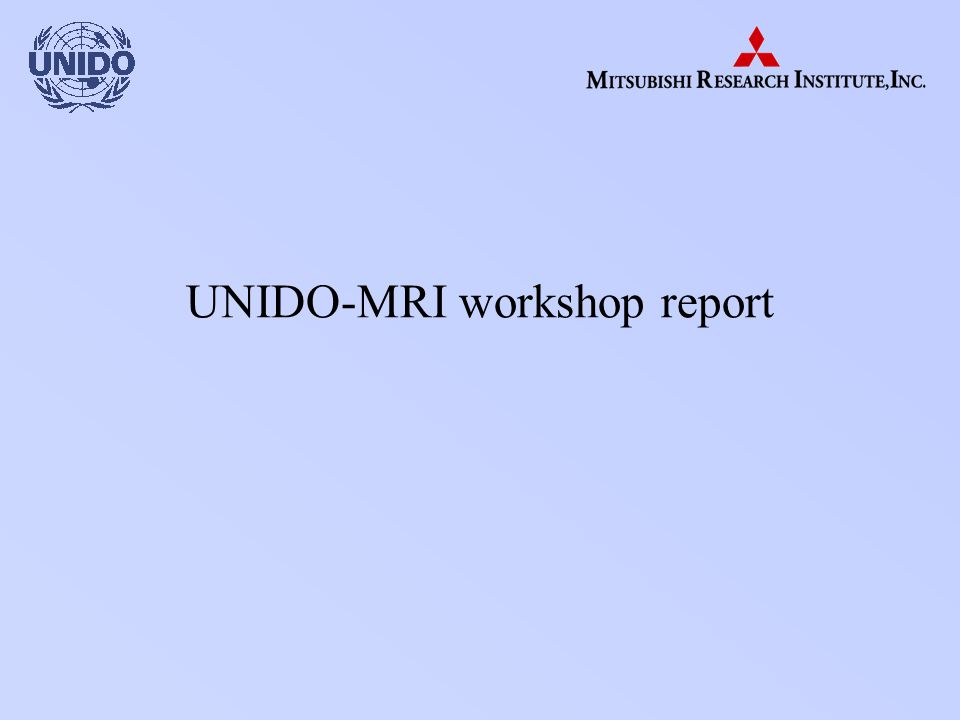 UNIDO-MRI workshop report
