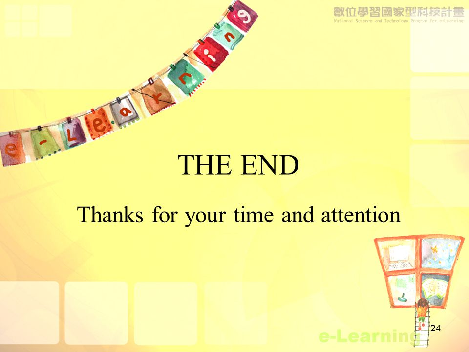 24 THE END Thanks for your time and attention