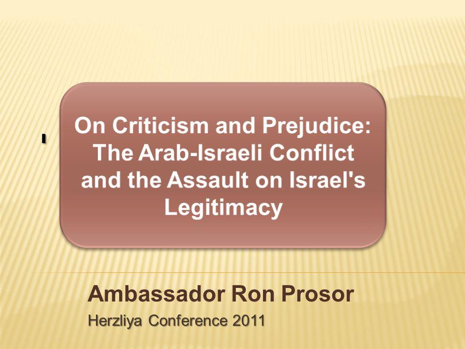 י Ambassador Ron Prosor Herzliya Conference 2011