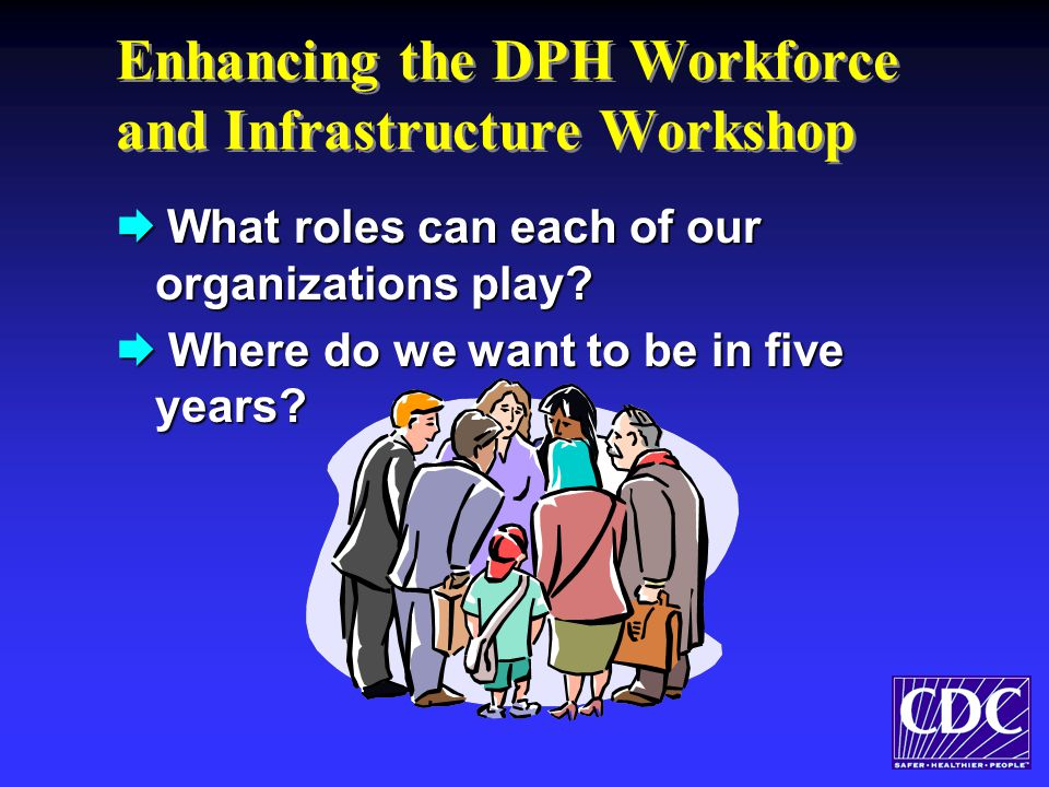 Enhancing the DPH Workforce and Infrastructure Workshop  What roles can each of our organizations play.