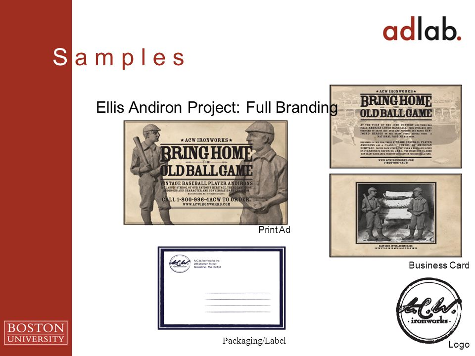 Ellis Andiron Project: Full Branding Packaging/Label Logo Print Ad Business Card S a m p l e s