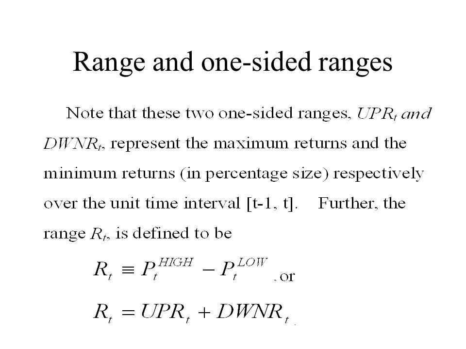 Range and one-sided ranges