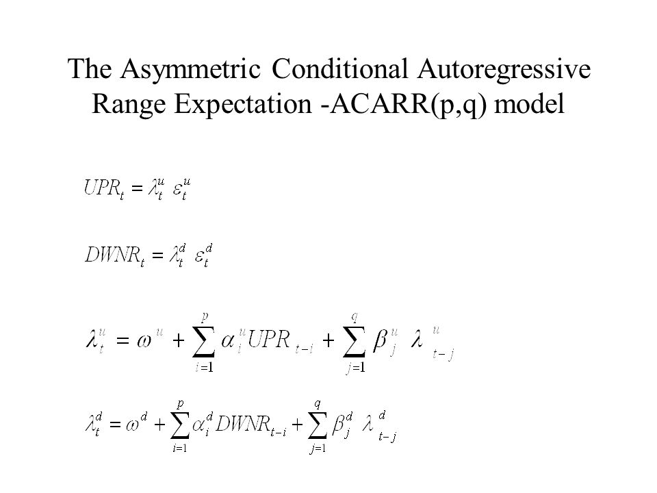 The Asymmetric Conditional Autoregressive Range Expectation -ACARR(p,q) model
