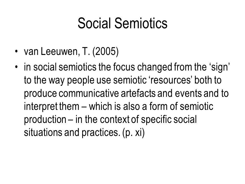 Social Semiotics van Leeuwen, T.