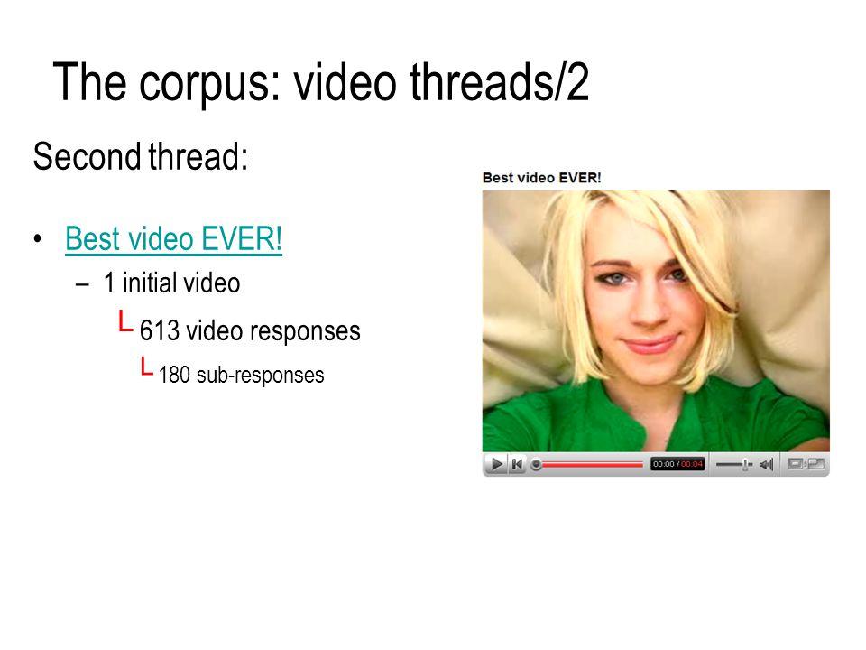The corpus: video threads/2 Second thread: Best video EVER.