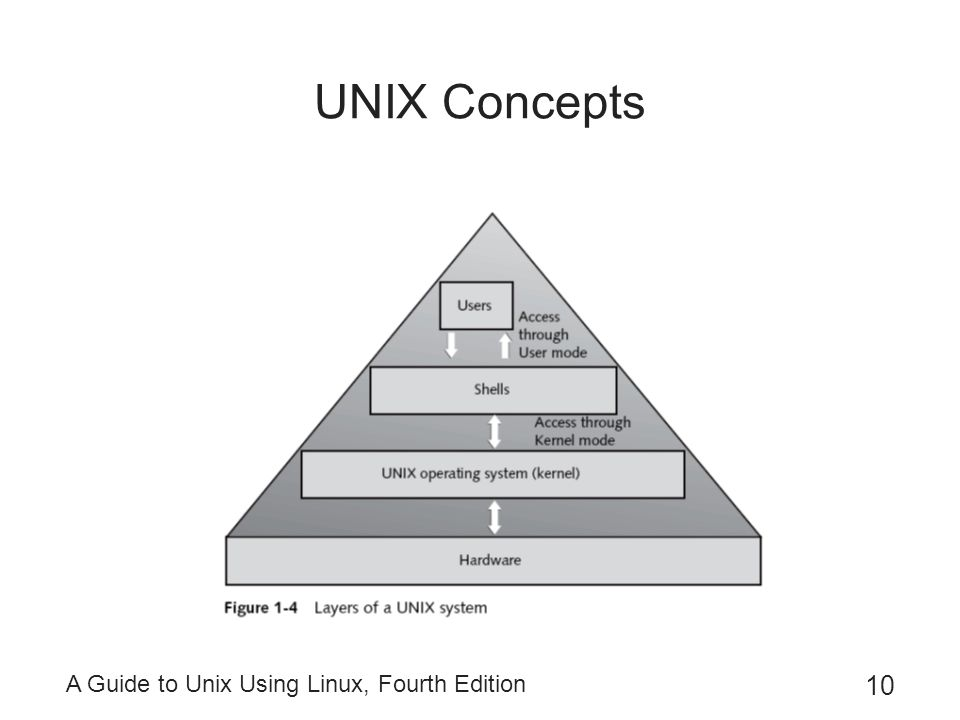 A Guide to Unix Using Linux, Fourth Edition 10 UNIX Concepts
