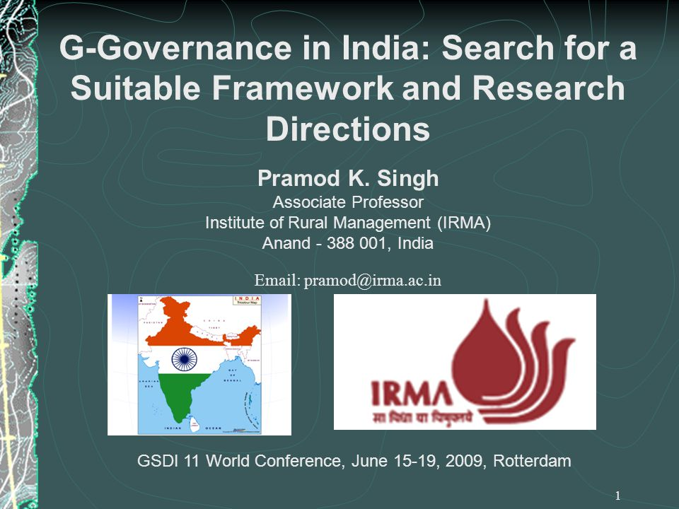 Institutional / Macro-environmental Issues India has a broad and powerful installed base for spatial data The institutional inertia has created lock-in effects 22