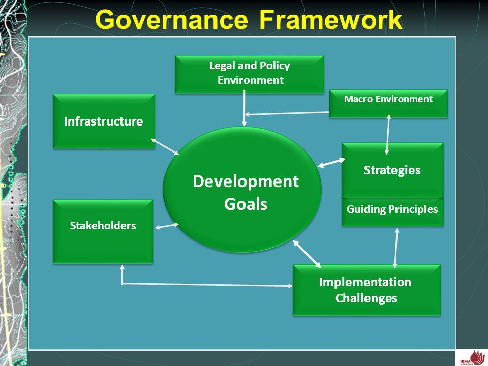 4 Infrastructure Implementation Challenges Implementation Challenges Legal and Policy Environment Legal and Policy Environment Governance Framework St