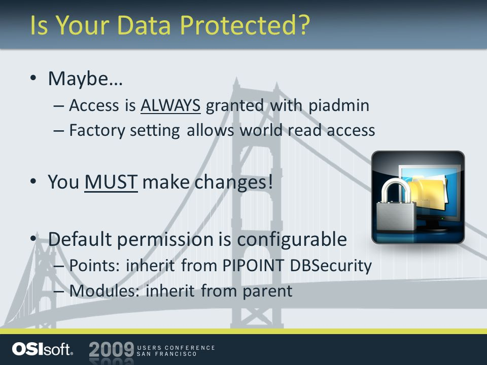 Is Your Data Protected.