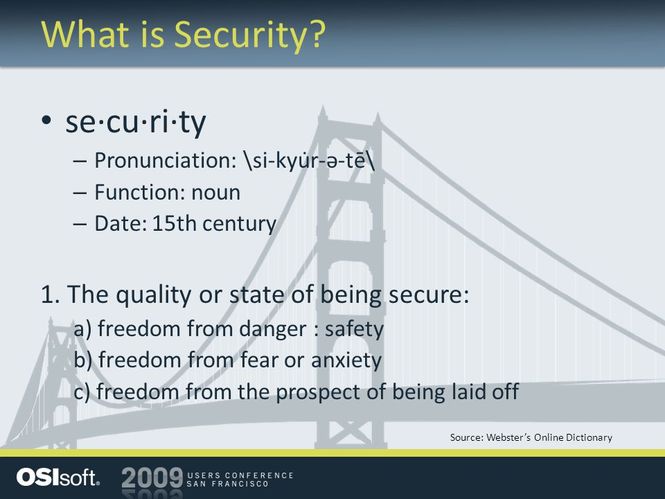 What is Security.