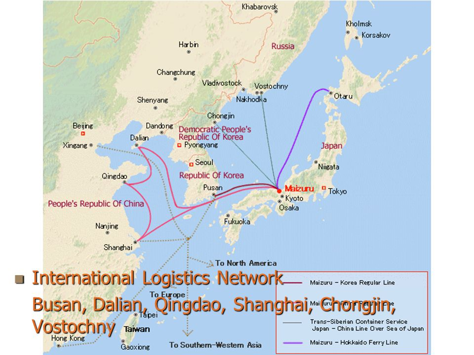 KAZutaka YAMADA6 International Logistics Network International Logistics Network Busan, Dalian, Qingdao, Shanghai, Chongjin, Vostochny