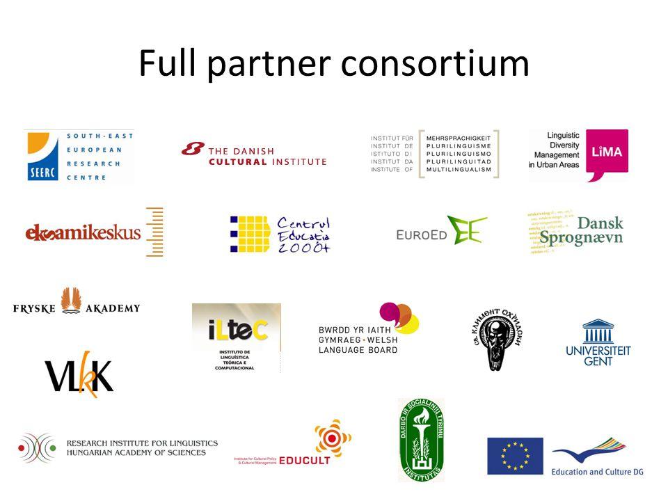 Full partner consortium
