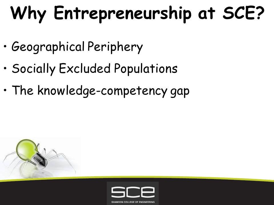Why Entrepreneurship at SCE.