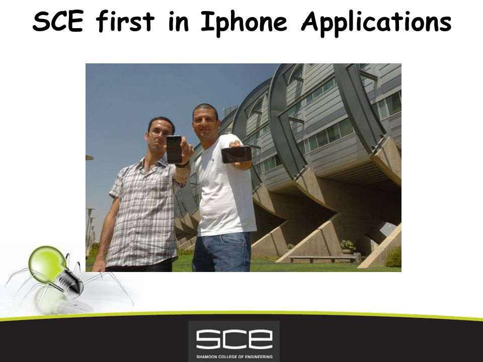 SCE first in Iphone Applications