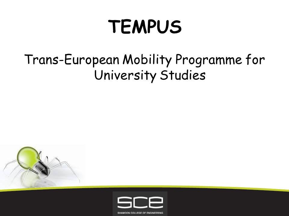 TEMPUS Trans-European Mobility Programme for University Studies